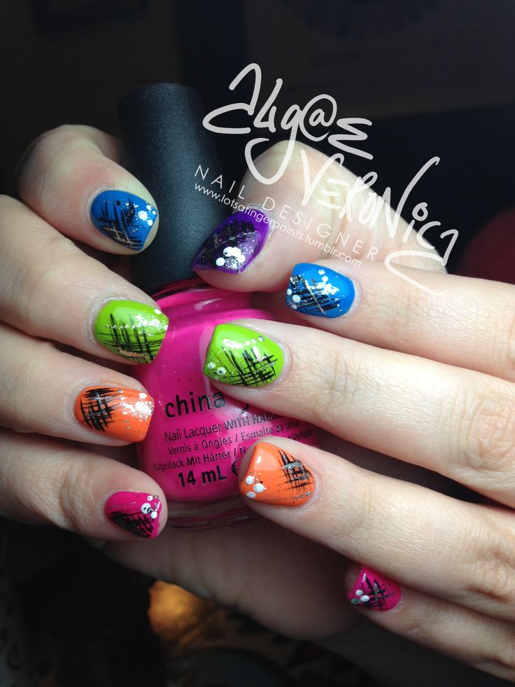 17 Best Ideas About Bright Colored Nails On Pinterest