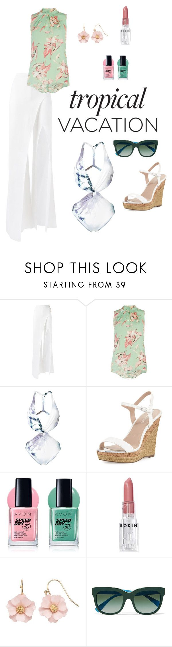 """Untitled #208"" by ladyasdis ❤ liked on Polyvore featuring Balmain, Dorothy Perkins, Fleur of England, Charles by Charles David, Avon, Rodin, LC Lauren Conrad, Dolce&Gabbana, contest and tropicalvacantion"