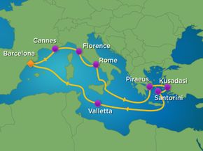 Here is just one of the hundreds of cruise ship itineraries Royal Caribbean offers around the world.