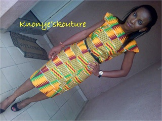 @Gladys Lau Eze looking Fab in her Ghanaian print Fabric.