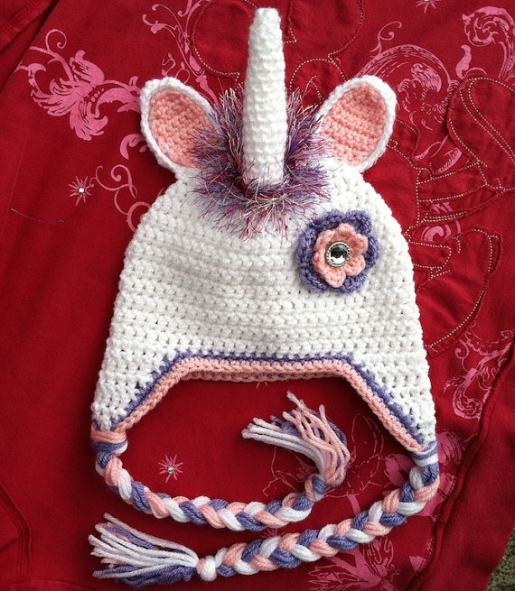 Unicorn Crochet Hat