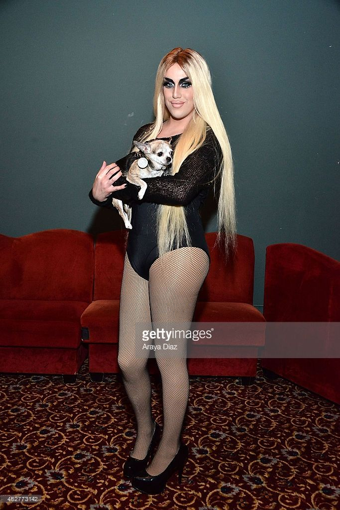 Adore Delano attends 'RuPaul's Drag Race' Battle Of The Seasons 'Condragulations' Tour LA Event at The Belasco Theater on February 4, 2015 in Los Angeles, California.