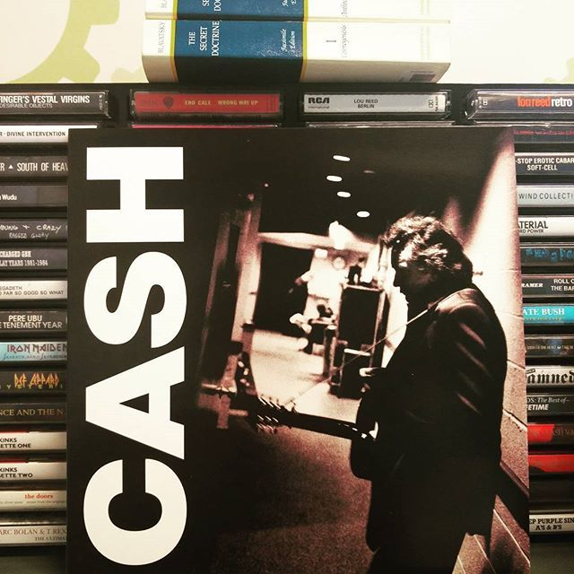 Solitary Man at the office. Johnny Cash American Recordings III #johnnycash #solitaryman #themercyseat #iseeadarkness #reissue #vinyljunkie #recordcollection