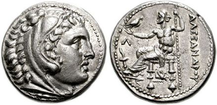 Macedonian silver tetradrachm of Alexander the Great
