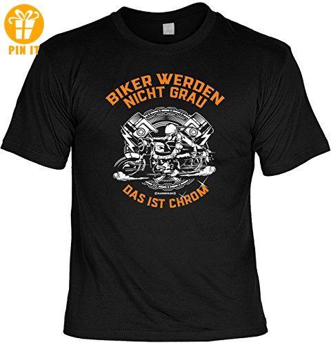 T-Shirt - Biker werden nicht grau - Das ist Chrom - lustiges Sprüche Shirt als Geschenk für Motorradfahrer mit Humor - T-Shirts mit Spruch | Lustige und coole T-Shirts | Funny T-Shirts (*Partner-Link)