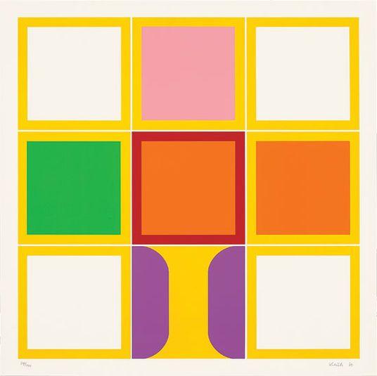 "Heinz Kreutz: ""9 x um Gelb"" (1970) http://www.kunsthaus-artes.de/de/753529.00/Bild-9-x-um-Gelb-1970/753529.00.html#cgid=t_geometrie&start=16"