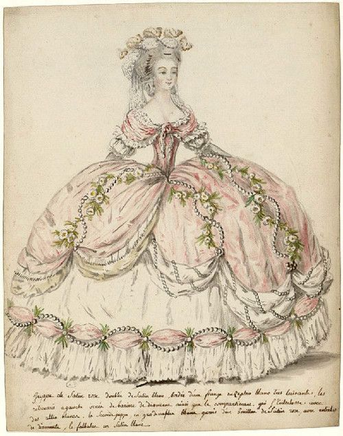 1787. Court dress, Versailles.