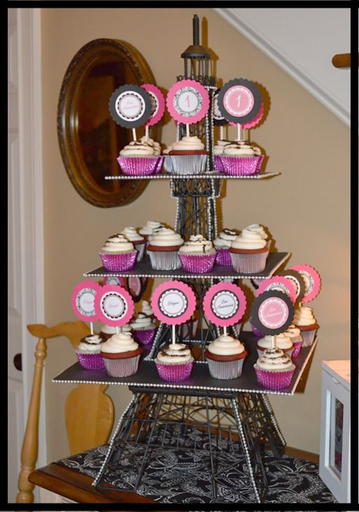 Eiffel Tower Decor Eiffel Tower Cupcake Decorations Http