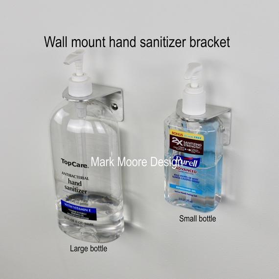 Hand Sanitizer Wall Mount Hand Sanitizer Hand Sanitizer Wall Etsy In 2020 Hand Sanitizer Wall Mount Bracket Wall Mount