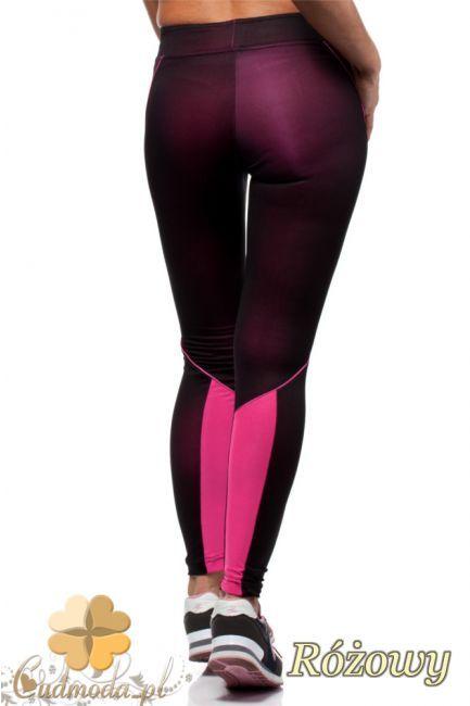 Stylowe legginsy - neonowe ze wstawką na łydce.  #cudmoda #moda #ubrania #odzież #spodnie #leginsy #leggings #hosen #pants
