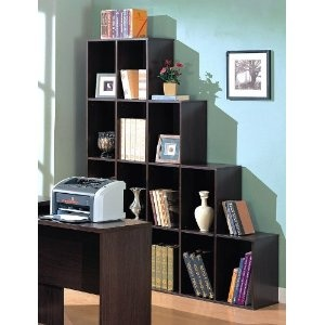 #4: Contemporary Home Office Cube Bookcase Display Shelves