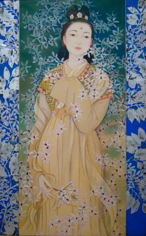 あふちの花/大伴旅人の若き妻の図