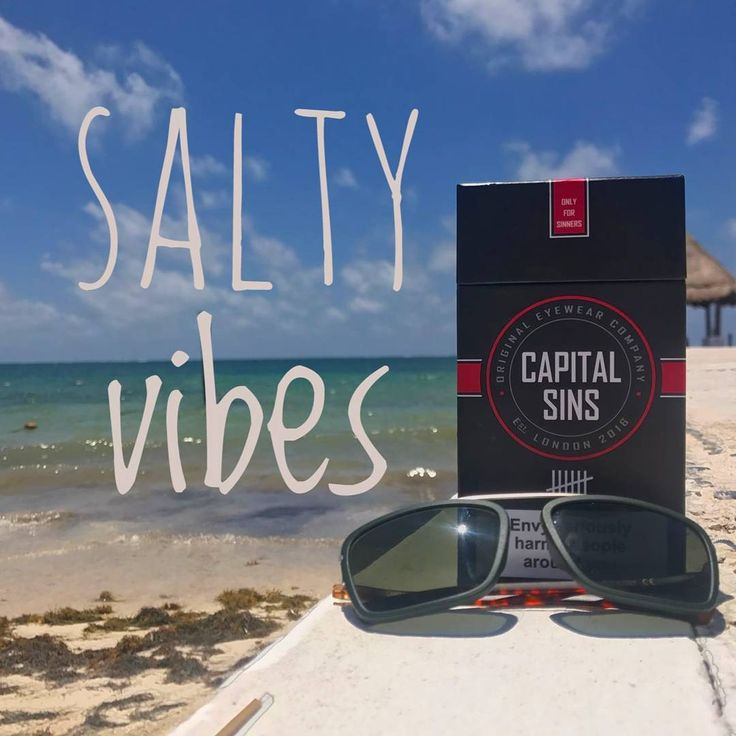Beach more, worry less with Capital Sins eyewear. Handmade in Italy with the highest Quality Materials, these shades are so dope!!