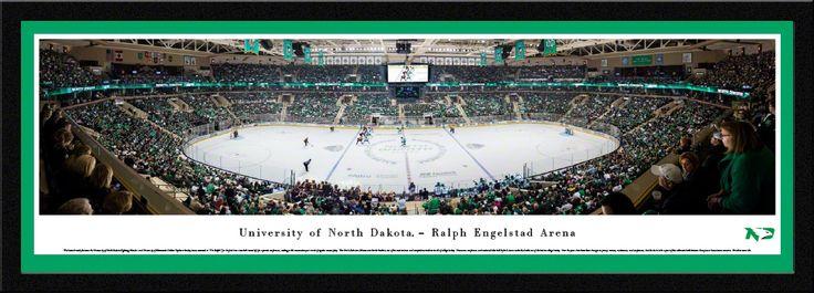 North Dakota Fighting Hawks Hockey Panoramic Picture - Ralph Engelstad Arena