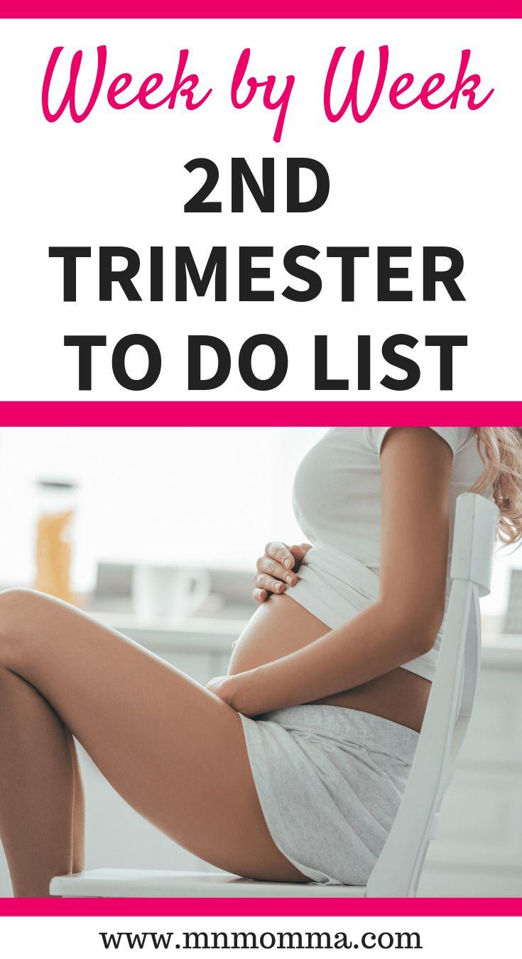 Weekly Pregnancy Checklist: Second Trimester – Ashley M Guenard