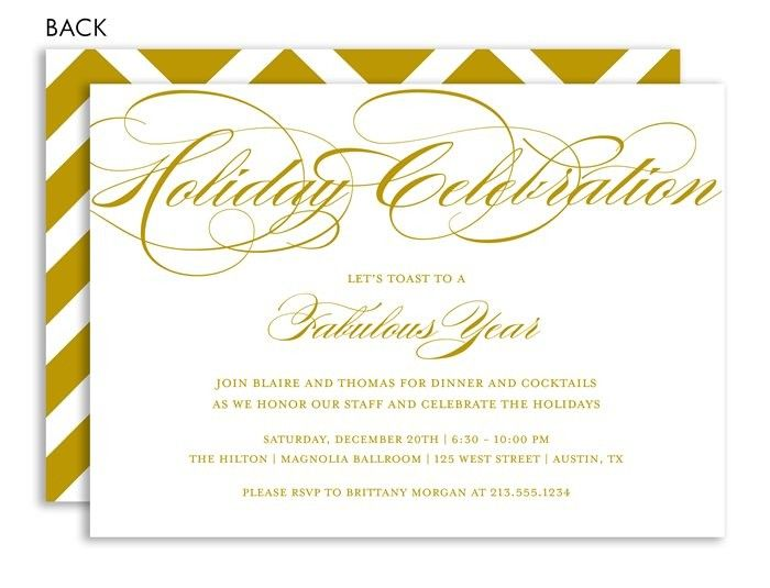 New Year\u0027s Soiree Wasabi Invitations Holiday invitations, Holiday - holiday party invitation