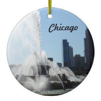 Chicago Christmas Ornament Buckingham Fountain
