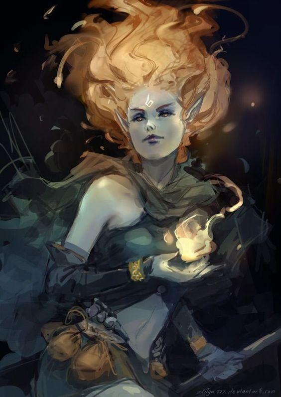 Female Fire Genasi, Barbarian, Bard, Cleric, Druid, Monk, Ranger, Rogue, Sorcerer, Warlock, Wizard: