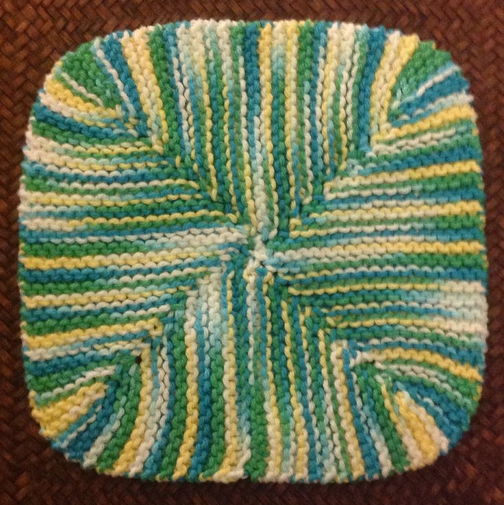 4-Corners Dishcloth By Abigail-1870pearl - Free Knitted Pattern - (ravelry)