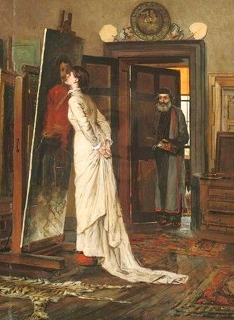 The Artist's Studio, 1898 -Charles Napier Kennedy