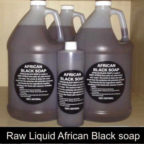100% Pure Authentic Liquid African Black Soap From Ghana (Gallon) 128 Fl. Oz. by NATURAL-COSMETICS. $59.99. Fights eczema, psoriasis and skin conditions.. Our black Soap is 100% pure and authentic Guaranteed. PLEASE NOTE: IF PURCHASING THIS PRODUCT FROM ANOTHER VENDOR OTHER THAN NATURAL COSMETICS YOU WILL NOT RECEIVE THE SAME PRODUCT.. With a Blend of Cocoa and Palm Oil. Black Soap Helps to remove scars caused by acne.Since acne is not caused by dirt, but due to the release of ex...