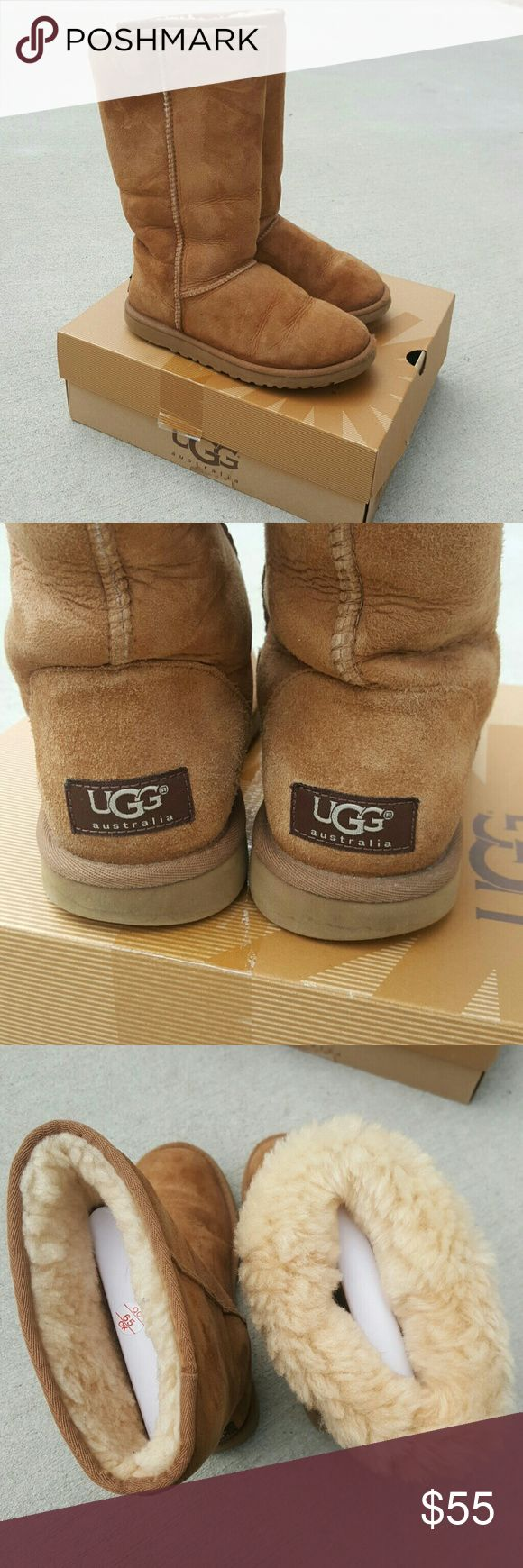 UGG Classic Tall Chestnut Boots Great condition! No stains or water marks. They are used but have tons of life left. UGG Shoes Winter & Rain Boots