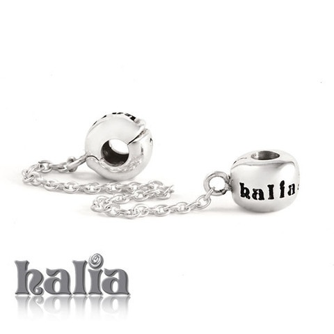 """Safety Chain with Clips: An extra layer of security, this 2.25"""" chain holds tight to either end of your bracelet: for use with the Halia Diamond (Universal) Bracelet or Necklace. Sterling silver, hypo-allergenic and nickel free.    $46.00"""