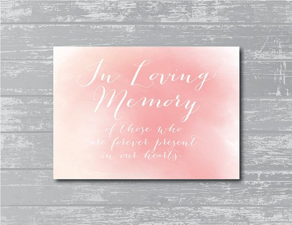 INSTANT DOWNLOAD... In Loving Memory Sign 8x10 by CreativePapier, $4.00