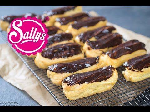 Éclairs mit italienischer Vanillecreme und Schokoladenüberzug / Brandteig - YouTube