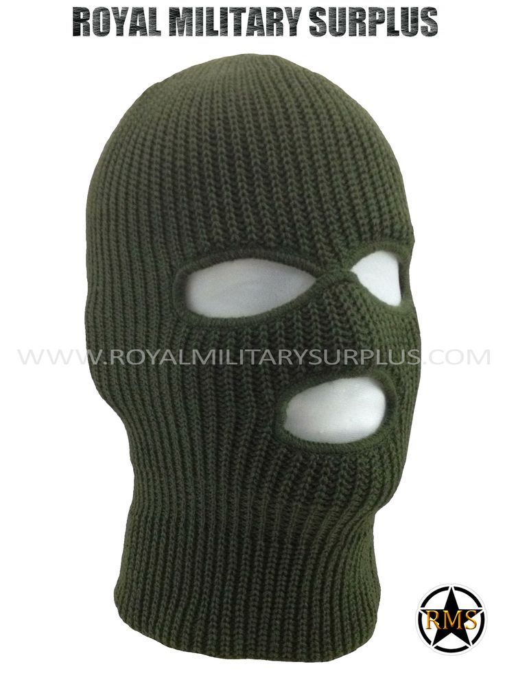 This OD Green Tactical Military Balaclava / Hood is in use by Canadian Forces. Made following Military Specifications (3 Holes Face Mask). All items are brand new and available. In use by Army, Military, Police and Special Forces of International Forces. Visit our Website at www.royalmilitarysurplus.com
