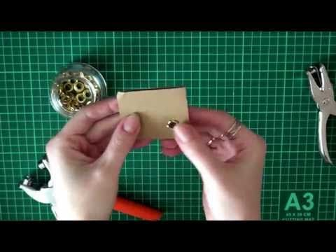 Как установить люверсы (блочки) без специальных инструментов - YouTube