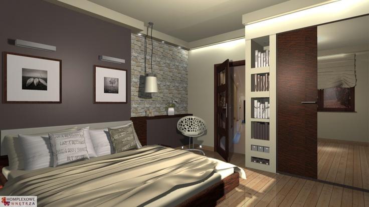 Aranżacja sypialni wystrój nowoczesny w kolorach beżowy, brązowy - projekt wnętrza o id 6623284 w Homplex.pl, Zestaw wyposażenia za 24614 zł ($7691)