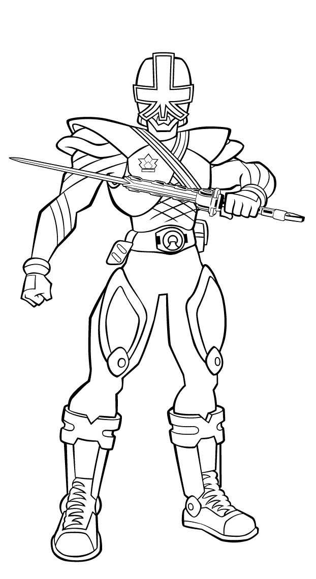 Power Ranger Samurai Coloring Picture
