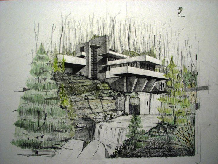 Fallingwater House 2 by Fremenul on deviantART