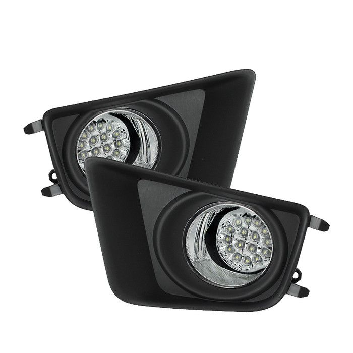 ( Spyder ) Toyota Tacoma 2012-2015 LED Fog Lights w/Switch - Clear