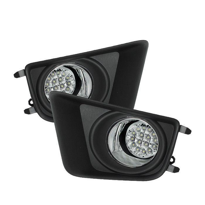 ( Spyder ) Toyota Tacoma 2012-2015 LED Fog Lights w/Switch - Clear