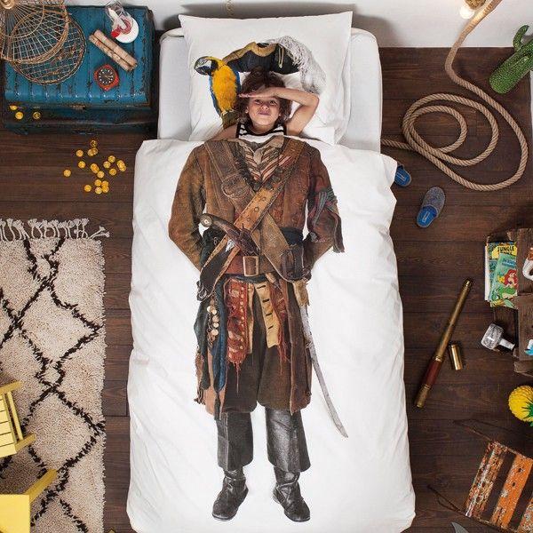 Snurk beddengoed: het Piraat dekbedovertrek.