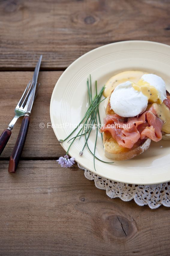 If you asked ten people what Eggs Benedict was, I am sure nine and a half of them would tell you it was poached eggs sitting on smoked salmon with hollandaise sauce. Which is what happens when rest...
