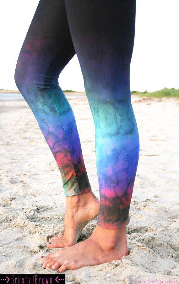 LEGGING - 'RAINBOW - Ombre Fade'  Style Legging for SURF,  Yoga, Running, Biking, sup, kitesurf, wakeboard