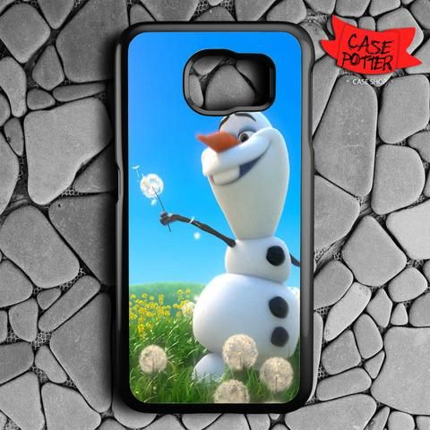 Olaf Playing Flower Dandelion Samsung Galaxy S6 Black Case