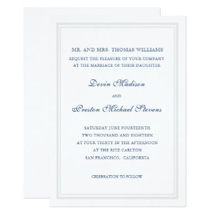 Simply Classic Weddings Card - classic gifts gift ideas diy custom unique