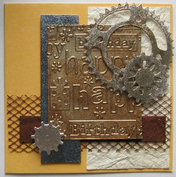 grung metal birthday card