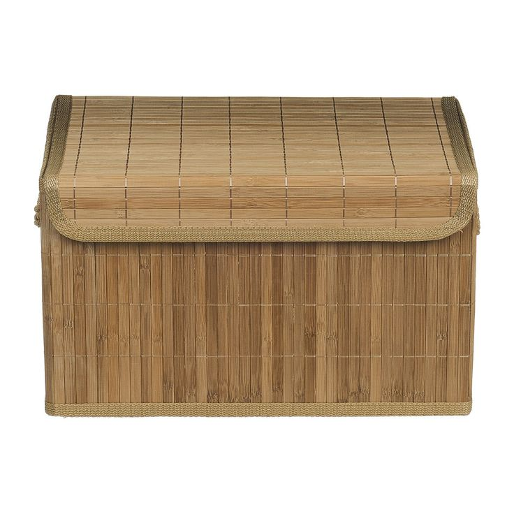 Opbergmand Bamboe Latjes 30x41x24 Cm | Xenos