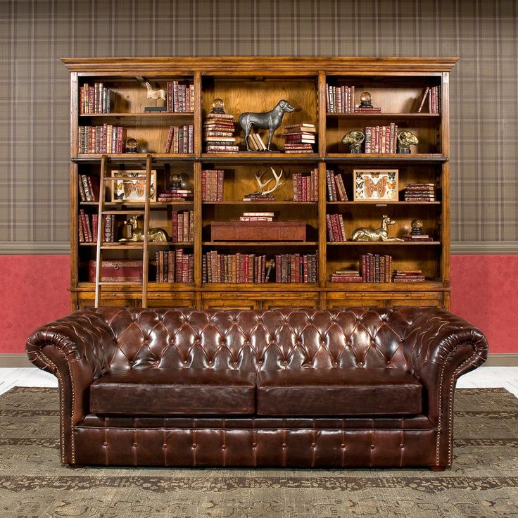 """Everett Tufted Leather Settee In 2019: 91"""" Sofa Restoration Style Vintage Cigar Bycast Leather"""