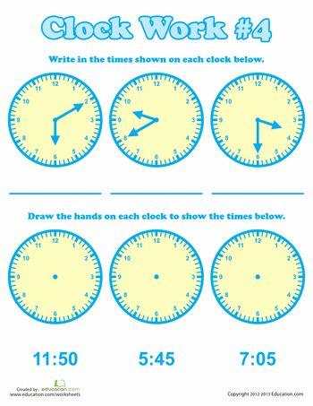 Clock Work - 2nd Grade Time Worksheets   Education.com ...