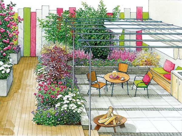 22 best mediterraner gartengestaltung mit pflasterungen images on pinterest backyard patio. Black Bedroom Furniture Sets. Home Design Ideas