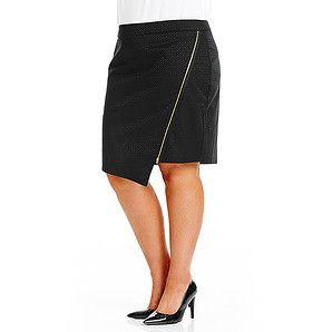 Belle Curve Zip Me Up Jacquard Skirt | Target Australia