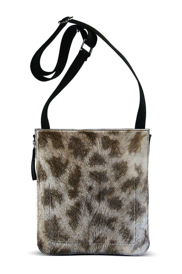 genuine african giraffe satchel