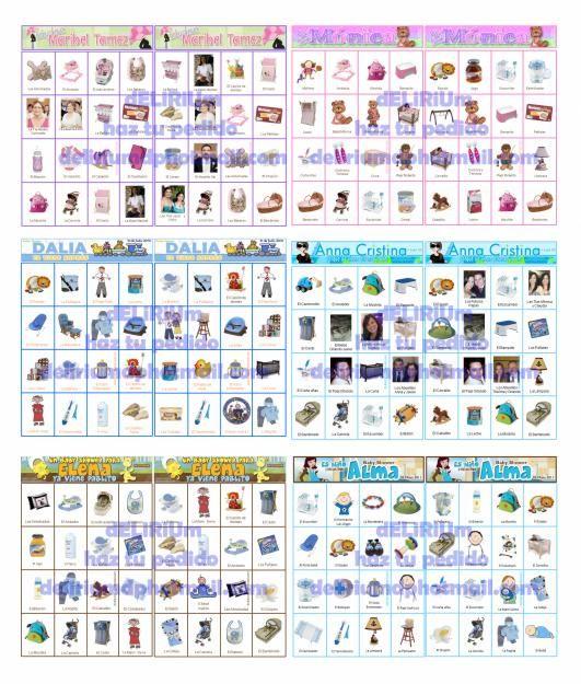 Loteria Para Imprimir Baby Shower Juegos Baby Shower Para Imprimir