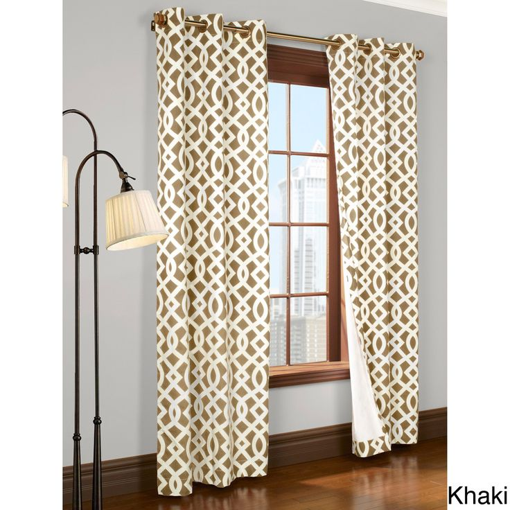 Trellis Printed Thermal Insulated Curtain Panel Pair